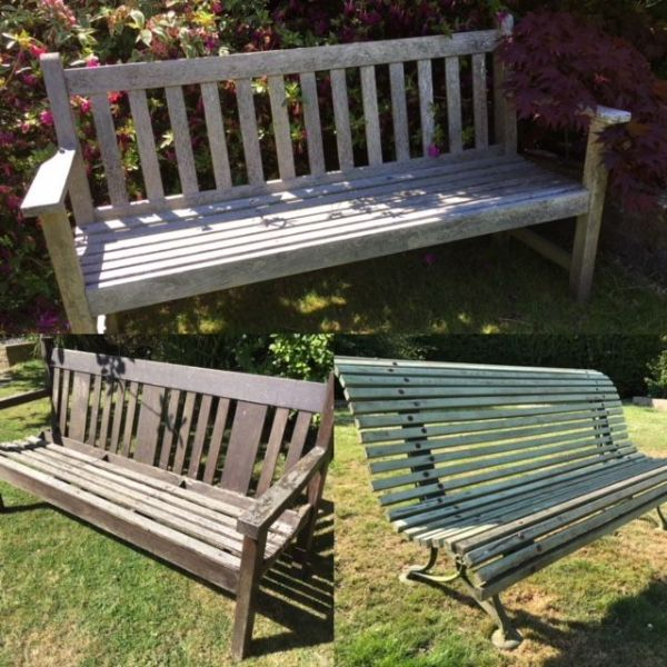 Antique / Vintage Garden Benches in Stock